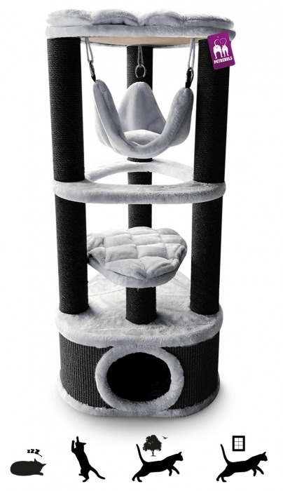 Cat Tree Kings & Queens Catharina 120cm Grey