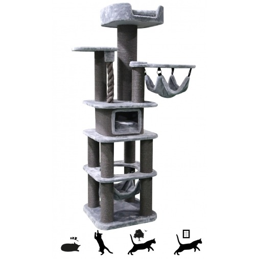 Cat Tree Mainstreet 200cm (Soft Grey)